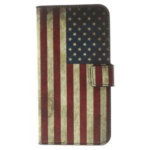Peňaženkové puzdro Huawei Ascend G7 - vlajka USA - 3