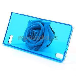 Gélové puzdro na Huawei Ascend P6 - modré - 3
