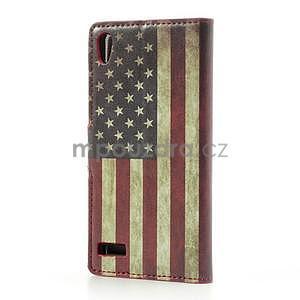 Peňaženkové puzdro na Huawei Ascend P6 - USA vlajka - 3