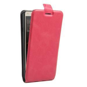 Flipové PU kožené puzdro na Huawei Y5 II - rose - 3