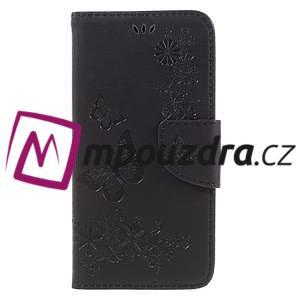 Butterfly PU kožené puzdro na mobil Huawei Y5 II - čierne - 3