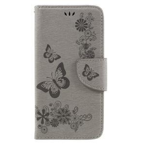 Butterfly PU kožené puzdro na mobil Huawei Y5 II - šedé - 3