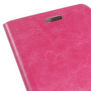 Horse PU kožené puzdro na mobil Huawei Y5 II - rose - 3