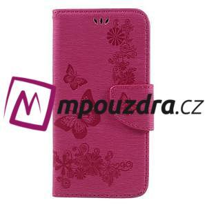 Butterfly PU kožené puzdro na mobil Huawei Y5 II - rose - 3