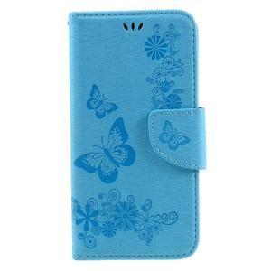 Butterfly PU kožené puzdro na mobil Huawei Y5 II - světlemodré - 3