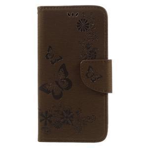 Butterfly PU kožené puzdro na mobil Huawei Y5 II - hnědé - 3