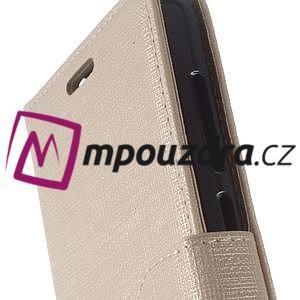 Clothy peněženkové puzdro na Huawei Y5 II - zlaté - 3
