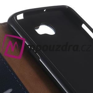 Clothy peněženkové puzdro na Huawei Y5 II - tmavěmodré - 3