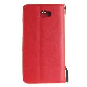 Dandelion PU kožené puzdro na Huawei Y5 II - červené - 3