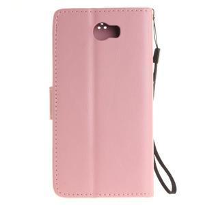 Dandelion PU kožené puzdro na Huawei Y5 II - růžové - 3