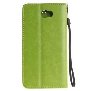 Dandelion PU kožené puzdro na Huawei Y5 II - zelené - 3