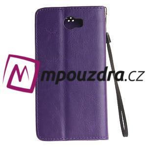 Dandelion PU kožené puzdro na Huawei Y5 II - fialové - 3