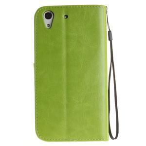 Dandelion PU kožené puzdro na Huawei Y6 II a Honor 5A - zelené - 3