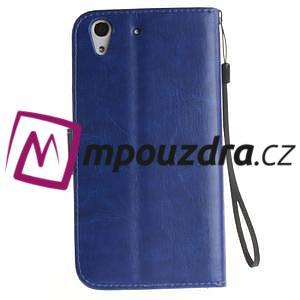 Dandelion PU kožené puzdro pre Huawei Y6 II a Honor 5A - modré - 3