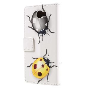 Emotive peňaženkové puzdro na Huawei Y6 II Compact - chrobáčiky - 3