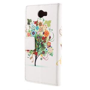 Emotive peňaženkové puzdro na Huawei Y6 II Compact - farebný strom - 3