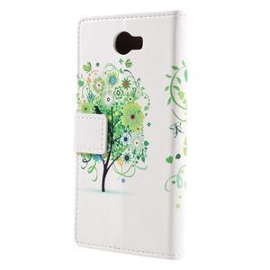 Emotive peňaženkové puzdro na Huawei Y6 II Compact - zelený strom - 3