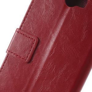 Horses PU kožené puzdro na Huawei Y6 II Compact - červené - 3