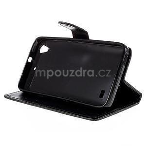 Peňaženkové puzdro na Huawei Ascend G620s - čierné - 3