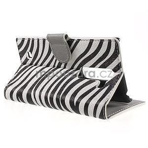 Pěněženkové puzdro na LG G4c H525n - zebra - 3