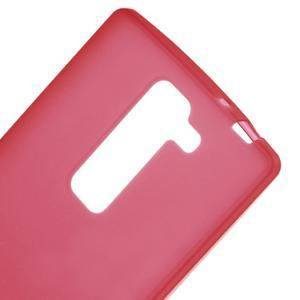 Matný gélový kryt pre LG G4c H525n - červený - 3