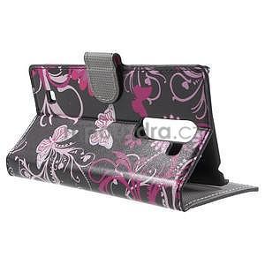 Peňaženkové puzdro pre LG G4c H525n - motýľe - 3