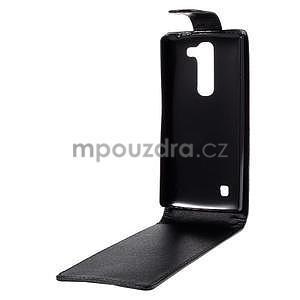 Čierné flipové puzdro pre LG G4c H525n - 3