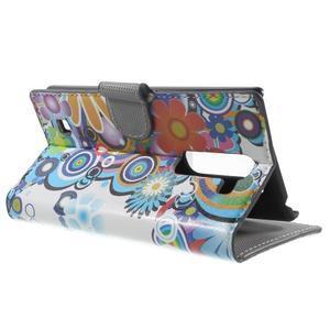 Peňaženkové puzdro pre LG G4c H525n - farebné kvetiny - 3