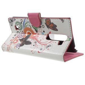 Peňaženkové puzdro pre LG G4c H525n - motýľkové - 3