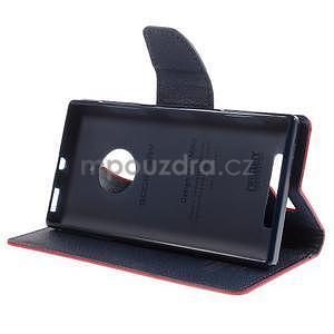 Kožené peňaženkové puzdro na Nokia Lumia 830 - červené - 3