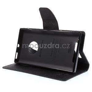 Kožené peňaženkové puzdro na Nokia Lumia 830 - čierné - 3