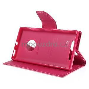 Kožené peňaženkové puzdro na Nokia Lumia 830 - růžové - 3