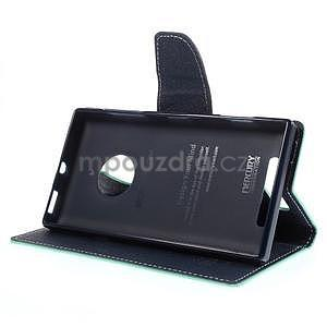 Kožené peňaženkové puzdro na Nokia Lumia 830 - azurové - 3
