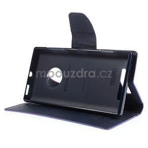 Kožené peňaženkové puzdro na Nokia Lumia 830 - fialové - 3
