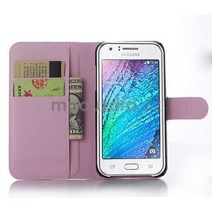Růžové zapínací peněženkové pouzdro na Samsung Galaxy J5 - 3