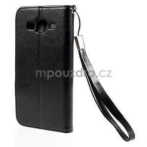 Peněženkové pouzdro s kočičkou Domi na Samsung Galaxy J5 - černé - 3