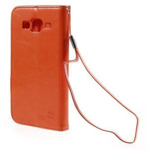 Peňaženkové puzdro s kočičkou Domi pre Samsung Galaxy J5 - oranžové - 3