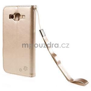 Peňaženkové puzdro s kočičkou Domi pre Samsung Galaxy J5 - champagne - 3