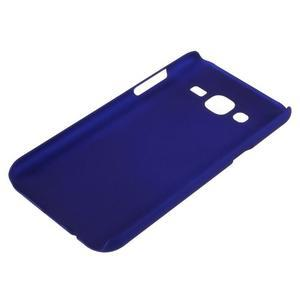 Tmavě modrý pogumovaný plastový kryt na Samsung Galaxy J5 - 3
