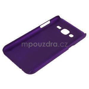 Fialový pogumovaný plastový kryt pre Samsung Galaxy J5 - 3