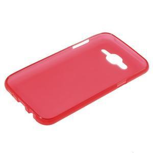 Matný gélový obal Samsung Galaxy J5 - červený - 3