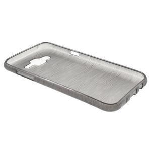 Broušený gelový obal na Samsung Galaxy J5 - šedý - 3