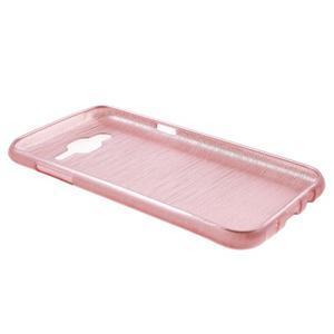 Brúsený gélový obal pre Samsung Galaxy J5 - ružový - 3