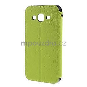PU kožené pouzdro s okýnkem pro Samsung Galaxy J5 - zelené - 3