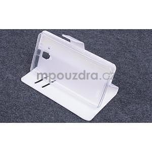 Koženkové puzdro pre mobil Lenovo A536 - biele - 3