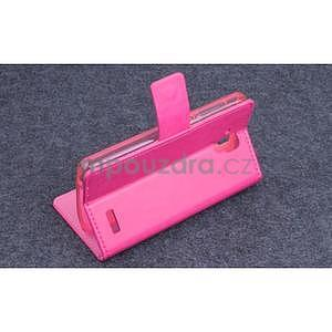 Koženkové puzdro pre mobil Lenovo A536 - rose - 3