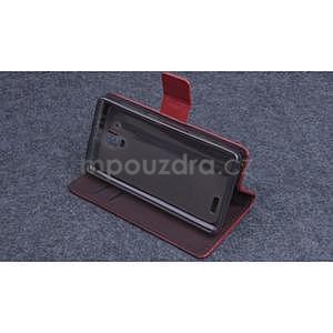 Koženkové puzdro pre mobil Lenovo A536 - hnedé - 3