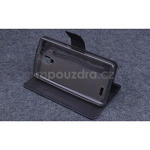 Koženkové puzdro pre mobil Lenovo A536 - čierne - 3