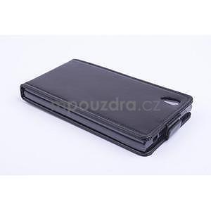 Kožené flipové puzdro pre Lenovo P70 - čierné - 3
