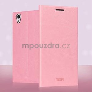 Ružové kožené puzdro pre Lenovo P70 - 3